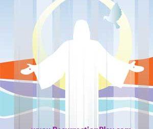 Risen Christ Silhouette