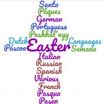 Easter Cross Wordcloud