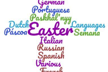 Easter Cross Wordcloud