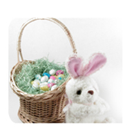 Easter Egg Basket with Bunny
